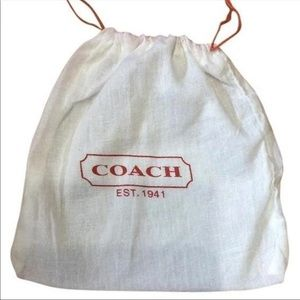 Coach small white dust bag